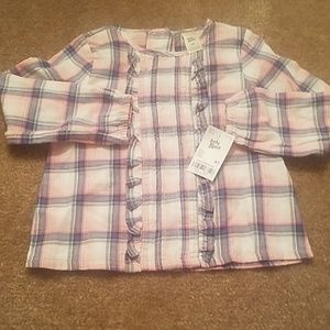 OshKosh B'gosh Shirts & Tops - Plaid Long Sleeve Blouse
